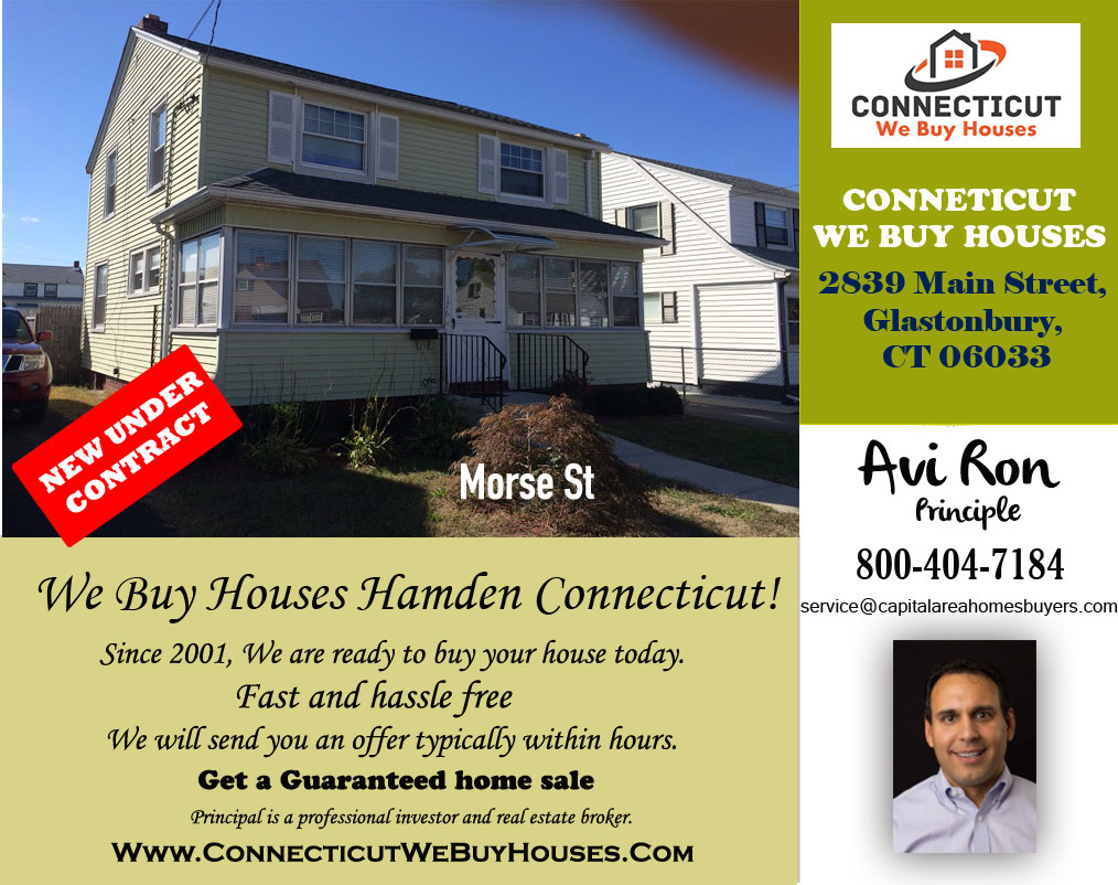 We Buy Houses Hamden Connecticut!